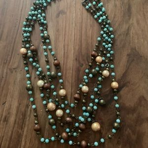 Anthropologie Chunky Turquoise Necklace